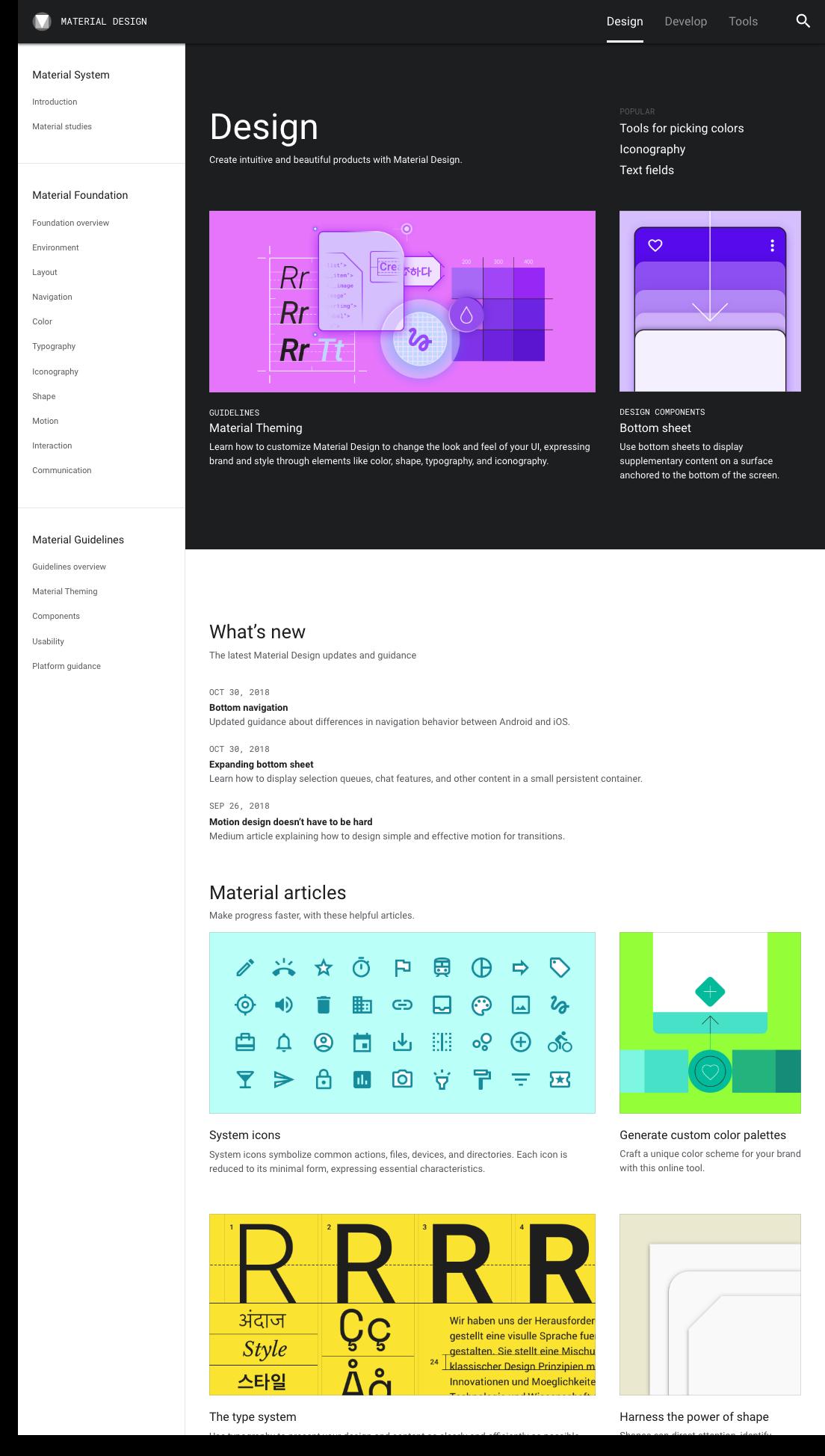 Material Design design system